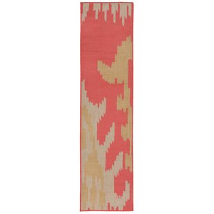 Finklea Ikat Rust/Beige Indoor/Outdoor Area Rug