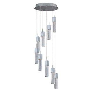 Diphda 9-Light LED Pendant by Orren Ellis