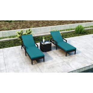 Everly Quinn Glendale Sun Lounger Set with Cushions and Table