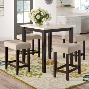 Skeens 5 Piece Counter Height Dining Set