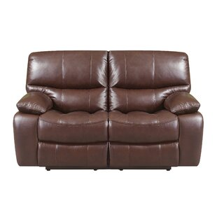 Shop Ledoux Leather Reclining Loveseat by Red Barrel Studio