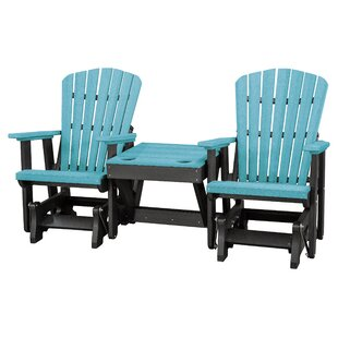Gina Double Glider Bench with Center Table