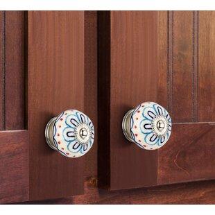 Handpainted Enigma Flower Round Knob (Set of 8)