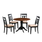 Agata 5 Piece Drop Leaf Solid Wood Dining Set by August Grove®