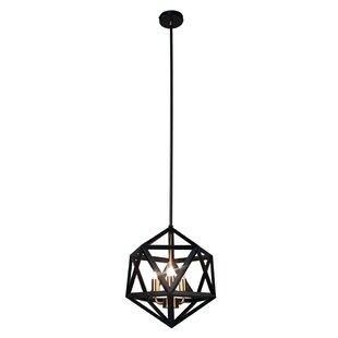 Addison 3-Light Geometric Chandelier by Trule Teen