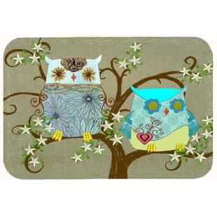 Superbe The Friendly Ladies Owl Kitchen/Bath Mat
