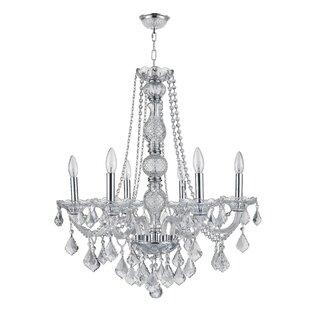 Rosdorf Park Georgeanna 1 Tier Crystal 6-Light Chandelier