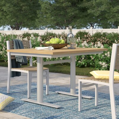 Caspian Rectangular 29.75 Inch Table by Sol 72 Outdoor 2020 Sale