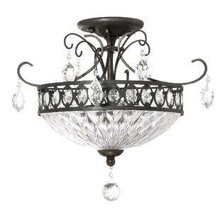 Astoria Grand Morley 3-Light Semi Flush Mount