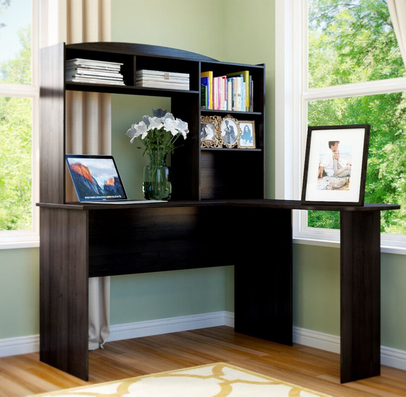 andover mills marlton lshape computer desk with hutch u0026 reviews wayfair