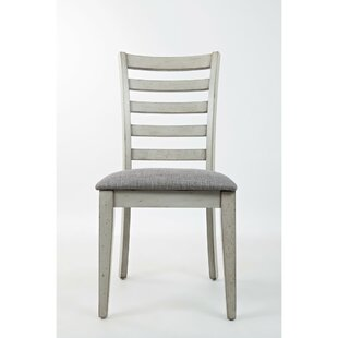 Julius Ladder Back Upholstered Dining Chair (Set of 2) Longshore Tides