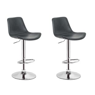 Gretna Adjustable Height Swivel Bar Stool (Set Of 2) by Orren Ellis Modern