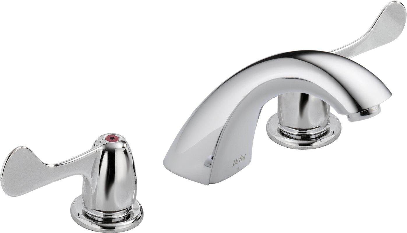 Delta Two Handle Widespread faucet Bathroom Faucet & Reviews | Wayfair