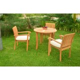 Onique Luxurious 4 Piece Teak Dining Set