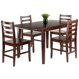 Innsbrook 5 Piece Solid Wood Dining Set by Charlton Home