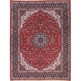 Check Prices Spurlock Soft Plush Floral Kashmar Persian Red/Black Area Rug ByWorld Menagerie