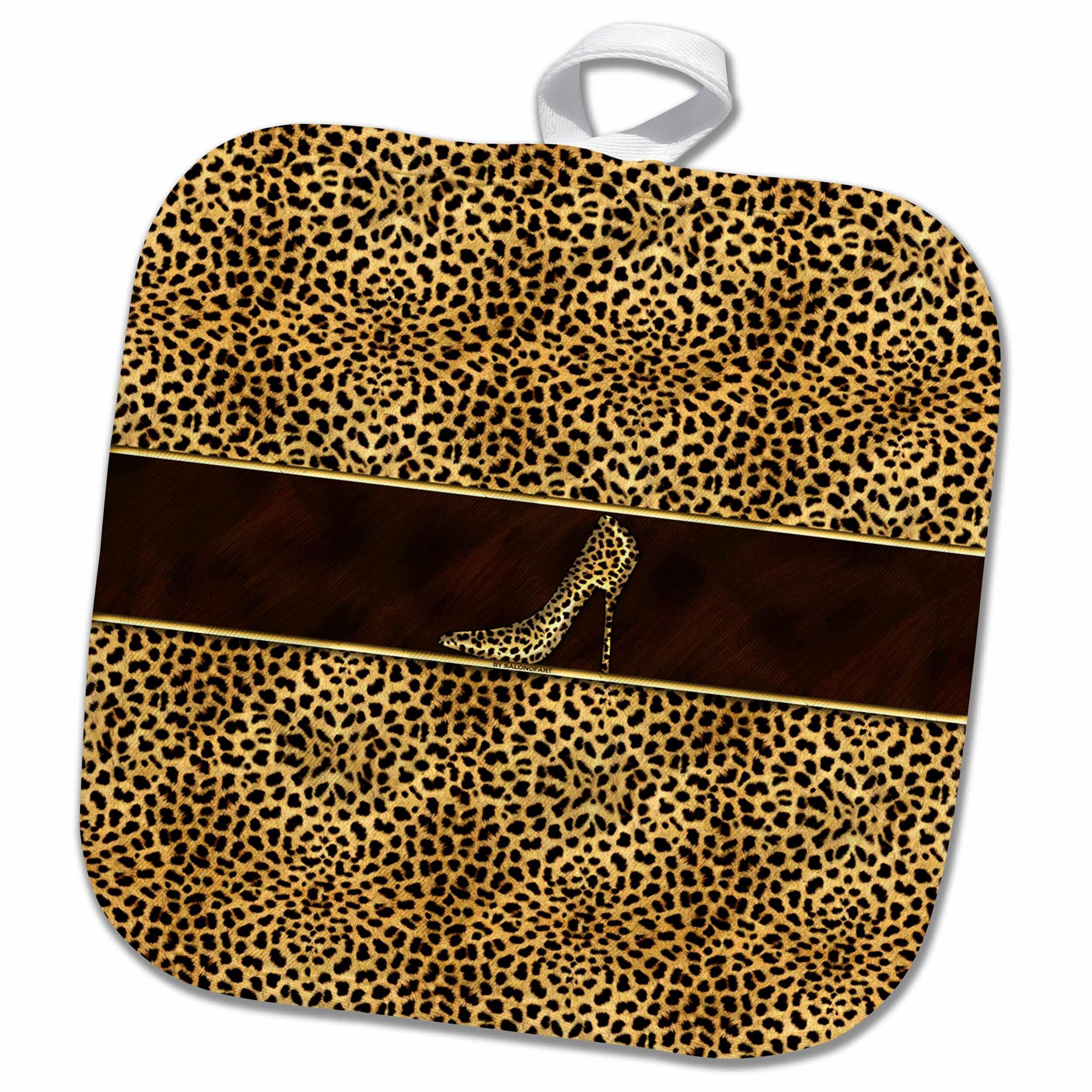 3drose Cheetah Print And Stiletto Heel Potholder Wayfair