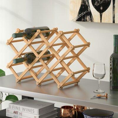 Andover Mills Morrissey Bamboo 10 Bottle Tabletop Wine Bottle Rack