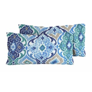Cobalt Outdoor Lumbar Pillow (Set of 2)