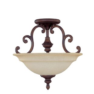 Shelbina 3-Light Semi-Flush Mount by Fleur De Lis Living