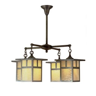 Meyda Tiffany Hyde Park T Mission 4-Light Shaded Chandelier