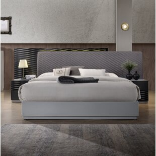 Where buy  Bernice Upholstered Platform Bed by Wrought Studio Reviews (2019) & Buyer's Guide