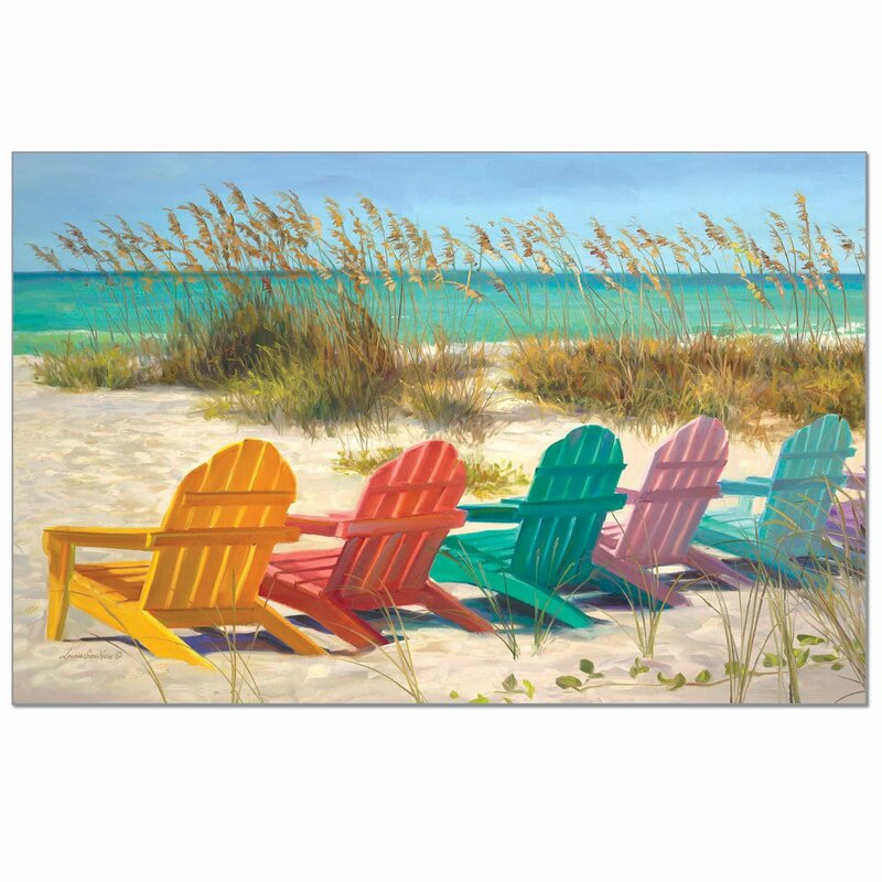 Zaina Disposable Paper Colorful Beach Chairs 18 Placemat