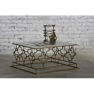 Kurtis Marble and Iron Coffee Table By Rosdorf Park