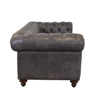 Newbury Genuine Top Grain Tufted Leather Chesterfield Sofa by Westland and Birch