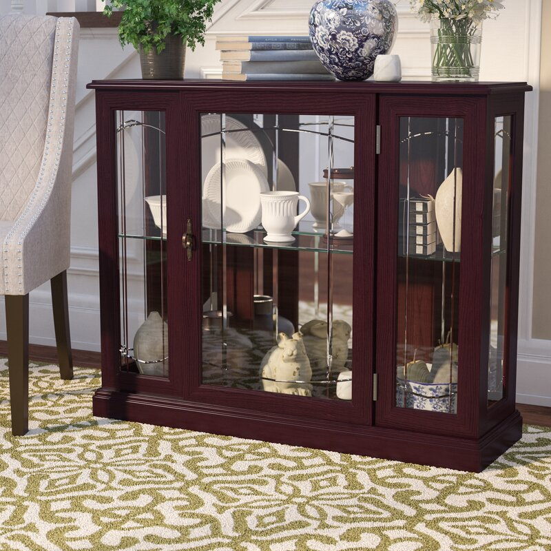 Fantastic Darby Home Co Purvoche Lighted Console Curio Cabinet & Reviews  IG48