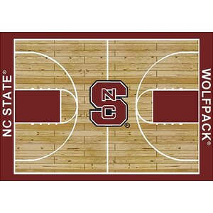 NCAA College Home Court North Carolina State Novelty Rug
