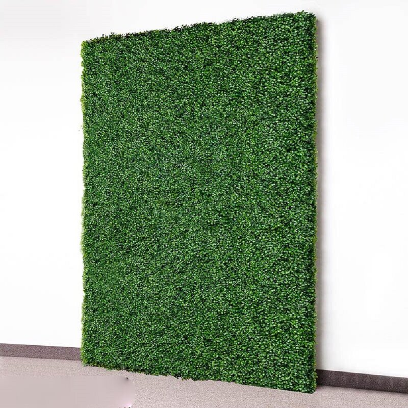 Green 3.5 Ft. H X 3.5 Ft. W Artificial Planes Milan Hedge Fencing (Part Number: Hg Milan40x40 3 Pc) by E Joy