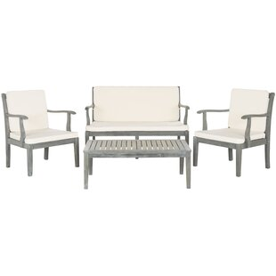 Montclair 4 Piece Sofa Seating Group with Cushions