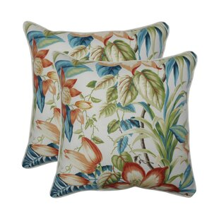 Gladeview Botanical Glow Tiger Lily Indoor/Outdoor Throw Pillow (Set of 2)