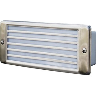 Recessed Louvered 2-Light Outdoor Flush Mount By Dabmar Lighting