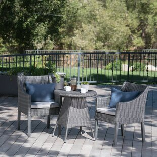 Crase Outdoor 3 Piece Bistro Set with Cus..