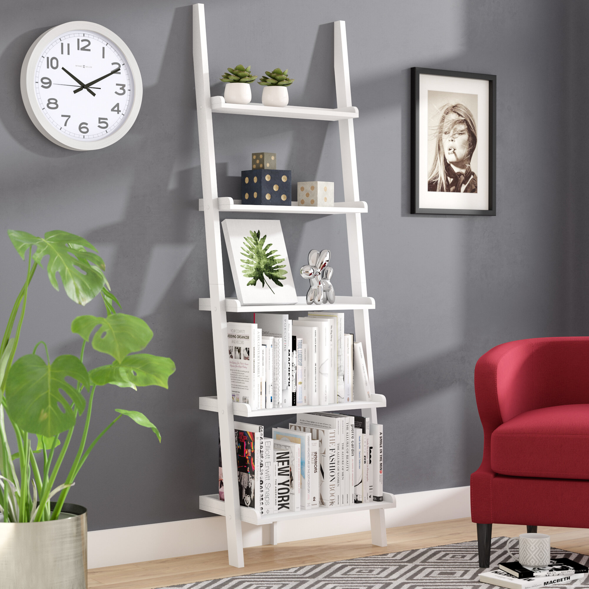 Three Posts Gilliard Ladder Bookcase Reviews