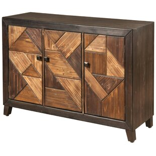 Desirat Chevron Patterned 3 Door Server