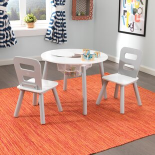 Kids 3 Piece Round Table and Chair Set & Round Kidsu0027 Table u0026 Chair Sets Youu0027ll Love | Wayfair