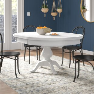 Zeinab Extendable Solid Wood Dining Table Great price