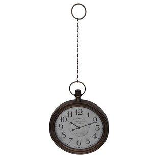Antique De Paris Oversized Bronze Pocket Watch Wall Clock by DarHome Co