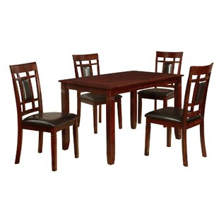 Patrick 5 Piece Solid Wood Dining Set