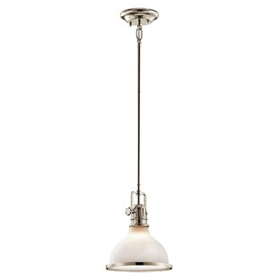 Beachcrest Home Dov 1-Light Cone Pendant