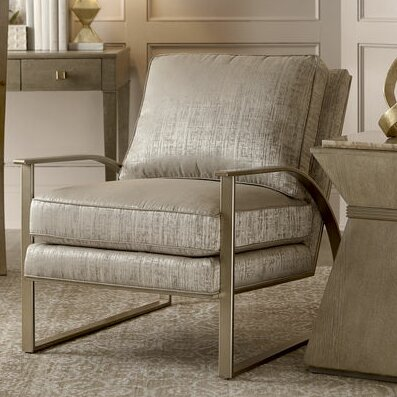 Gracie Oaks Alvina Brass Metal Frame Armchair | Wayfair