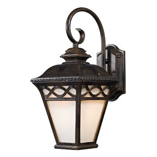 Compare prices Creighton 1-Light Outdoor Wall Lantern By Three Posts