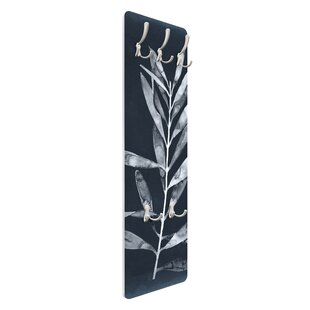 Branch On Denim I Wall Mounted Coat Rack By Symple Stuff