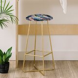 Laura Fedorowicz Wildflower Royale 31 Bar Stool by East Urban Home