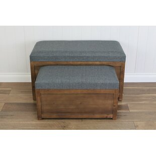 Woodrum 2 Piece Wooden Storage Bench Set by Gracie Oaks Read Reviews