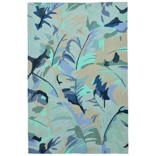 Rachael Hand-Tufted Blue Indoor/Outdoor Area Rug