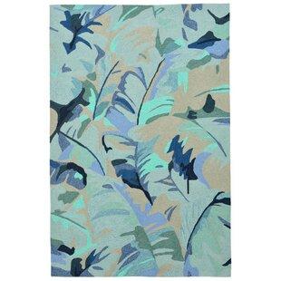 Rachael Hand-Tufted Blue Indoor/Outdoor Area Rug
